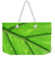 Weekender Tote Bag featuring the photograph Veins Of Life by Judy Whitton