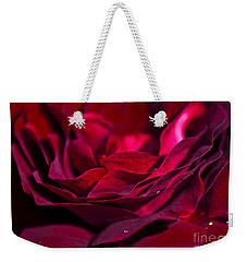 Velvet Red Rose Weekender Tote Bag by Jan Bickerton