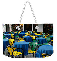 Venetian Cafe Weekender Tote Bag by Robin Maria Pedrero
