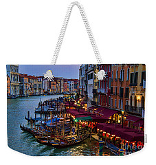 Venetian Grand Canal At Dusk Weekender Tote Bag