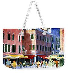 Venetian Piazza Weekender Tote Bag