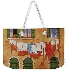 Venetian Washday Weekender Tote Bag