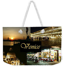 Venice By Night Weekender Tote Bag