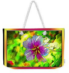 Venice Flower - Framed Weekender Tote Bag