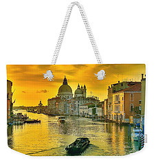 Golden Venice 3 Hdr - Italy Weekender Tote Bag by Maciek Froncisz