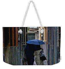 Venice In The Rain Weekender Tote Bag