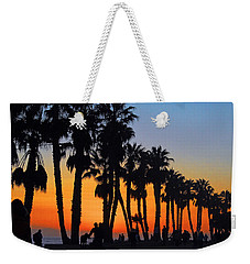 Weekender Tote Bag featuring the photograph Ventura Boardwalk Silhouettes by Lynn Bauer