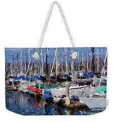 Ventura Harbor Village Weekender Tote Bag by Andrea Auletta