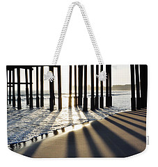 Weekender Tote Bag featuring the photograph Ventura Pier Shadows by Kyle Hanson