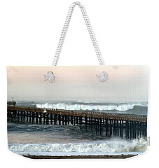 Weekender Tote Bag featuring the photograph Ventura Storm Pier by Henrik Lehnerer