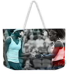 Venus Williams And Serena Williams Weekender Tote Bag by Marvin Blaine