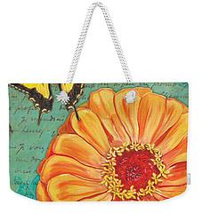 Verdigris Floral 1 Weekender Tote Bag