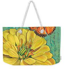 Verdigris Floral 2 Weekender Tote Bag by Debbie DeWitt