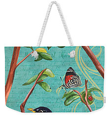 Verdigris Songbirds 1 Weekender Tote Bag