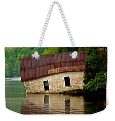 Weekender Tote Bag featuring the photograph Vermont Boathouse by John Haldane