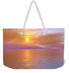 Weekender Tote Bag featuring the digital art Verona Beach by Mark Greenberg