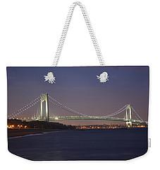 Verrazano Narrows Bridge At Night Weekender Tote Bag