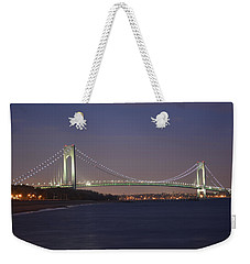 Verrazano Narrows Bridge At Night Weekender Tote Bag