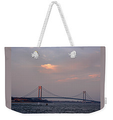 Verrazano Narrows Bridge At Sunset Weekender Tote Bag