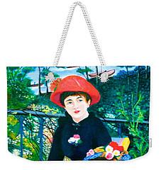 Version Of Renoir's Two Sisters On The Terrace Weekender Tote Bag by Lorna Maza