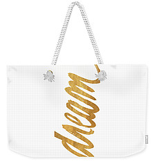 Vertical Gold Dream Weekender Tote Bag