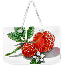 Artz Vitamins A Very Happy Raspberry Weekender Tote Bag