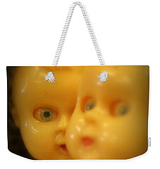Weekender Tote Bag featuring the photograph Very Scary Doll by Lynn Sprowl