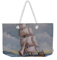 Vessel In The Sea Weekender Tote Bag