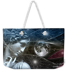 Vestal Moon Weekender Tote Bag by Rosa Cobos