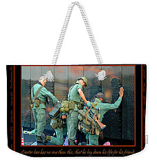 Veterans At Vietnam Wall Weekender Tote Bag