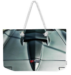 Weekender Tote Bag featuring the photograph Vette Hood by Victor Montgomery
