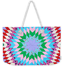 Vibrant Quilt Weekender Tote Bag by Art Block Collections