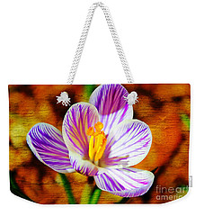 Weekender Tote Bag featuring the photograph Vibrant Spring Crocus by Judy Palkimas