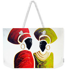 Vibrant Zulu Ladies - Original Artwork Weekender Tote Bag