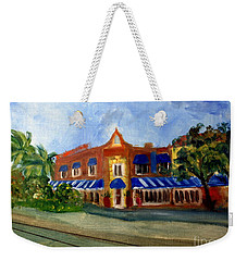 Vic And Angelos In Downtown Delray Beach Weekender Tote Bag