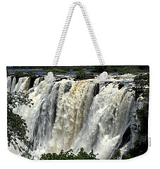 Victoria Falls On The Zambezi River Weekender Tote Bag
