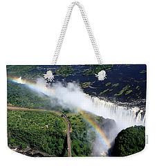 Rainbow Over Victoria Falls  Weekender Tote Bag