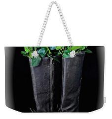 Victorian Black Boots Weekender Tote Bag by Jeannie Rhode