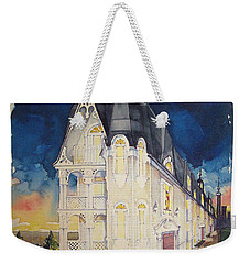 The Victorian Apartment Building By Rjfxx. Original Watercolor Painting. Weekender Tote Bag