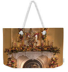 Victorian Christmas By The Fire Weekender Tote Bag