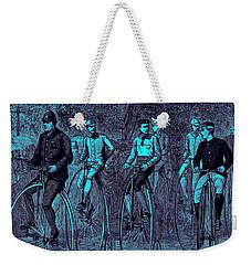 Victorian High Wheel Bicyclists No.2 Weekender Tote Bag by Peter Gumaer Ogden