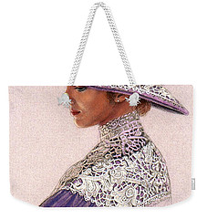 Victorian Lady In Lavender Lace Weekender Tote Bag