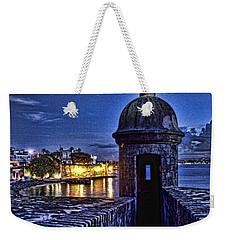 Weekender Tote Bag featuring the photograph Viejo San Juan En La Noche by Daniel Sheldon