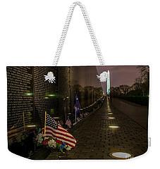 Vietnam Veterans Memorial At Night Weekender Tote Bag