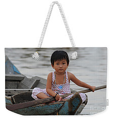 Vietnamese Girl On Lake Tonle Sap Weekender Tote Bag