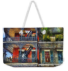 Weekender Tote Bag featuring the photograph Vieux Carre' Balconies by Tammy Wetzel
