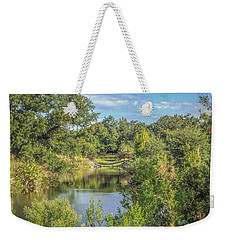 View Down The Creek Weekender Tote Bag by Jane Luxton
