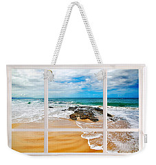 View From My Beach House Window Weekender Tote Bag by Kaye Menner