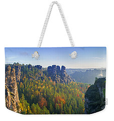 View From The Bastei Bridge In The Saxon Switzerland Weekender Tote Bag