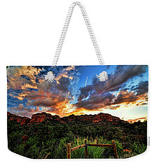 View From The Fence  Weekender Tote Bag